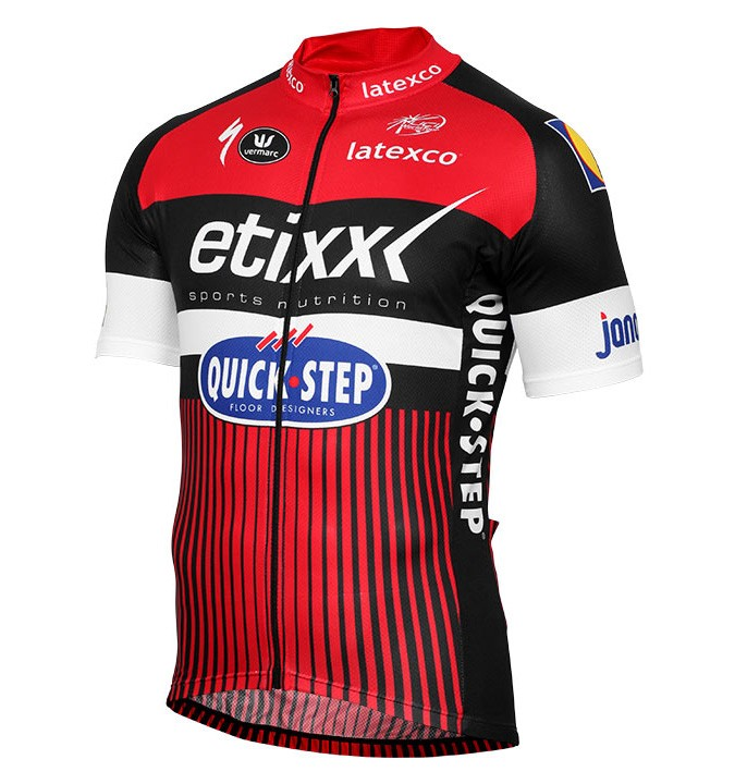 2016 etixx quick step tdf dition rouge maillot cyclisme. Black Bedroom Furniture Sets. Home Design Ideas