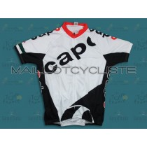 2011 CAPO blanc Maillot Cyclisme manches courtes