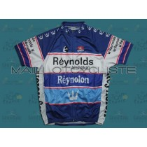 Reynolds Reynolon throwback bleu Maillot Cyclisme manches courtes