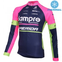 2015 Lampre Merida Maillot thermique manches longues