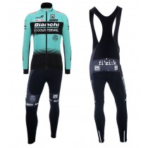 2018 Équipe Bianchi Countervail Maillot Cyclisme manches longues et Collant