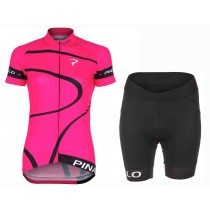 2016 Pinarello MIRA Rose femmes Maillot Cyclisme manches courtes et Cuissard