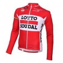 2016 Lotto Soudal rouge Maillot manches longues