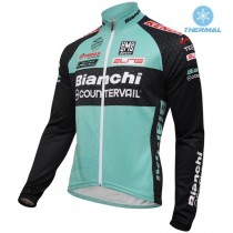 2016 Bianchi MTB vert Maillot thermique manches loungues