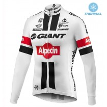 2016 Giant Alpecin TDF Édition blanc Maillot thermique manches loungues