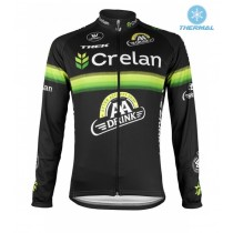 2016 Crelan-AA Drink Noir Maillot thermique manches loungues