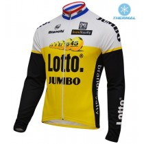 2016 Lotto-Jumbo Jaune Maillot thermique manches loungues