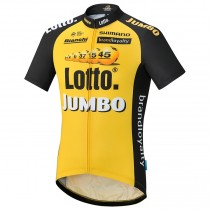 2017 Lotto NL-Jumbo Jaune Maillot Cyclisme manches courtes