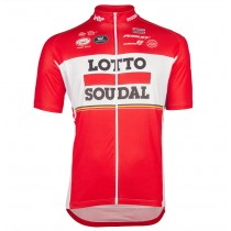 2017 Lotto-Soudal rouge Maillot Cyclisme manches courtes