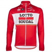 2017 Lotto-Soudal rouge Maillot manches longues