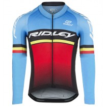 2017 Ridley Rincon Bleu-rouge Maillot manches longues