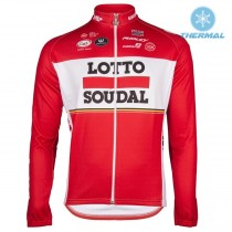 2017 Lotto-Soudal rouge Maillot thermique manches loungues