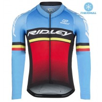 2017 Ridley Rincon Bleu-rouge Maillot thermique manches loungues