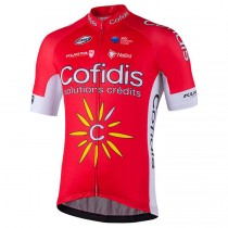 2018 Cofidis Solutions Credits Maillot Cyclisme manches courtes