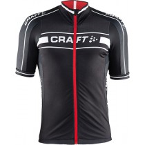 2015 Craft Bike Grand Tour Noir-Rouge Maillot Cyclisme manches courtes