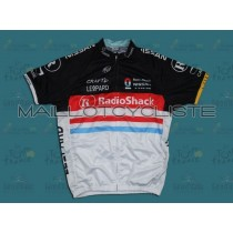 2012 RadioShack Nissan Trek LUX Champion Maillot Cyclisme manches courtes