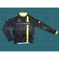 2011 LiveStrong équipe Maillot thermique manches loungues