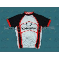 2012 Orbea Blanc et Rouge  Maillot Cyclisme manches courtes