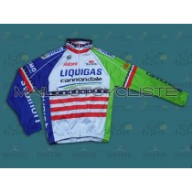 2013 Liquigas US champion Maillot thermique manches loungues