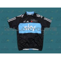 2012 Sky professionnel Maillot Cyclisme manches courtes