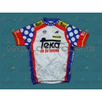Throwback Teka Spain Champion Maillot Cyclisme manches courtes