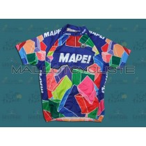 Throwback Mapei Rétro Maillot Cyclisme manches courtes