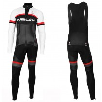 2020 Nalini Thebe Noir-blanc Maillot Cyclisme manches longues et Collant