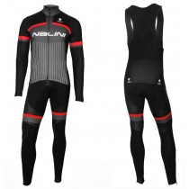 2020 Nalini Thebe Noir-rouge Maillot Cyclisme manches longues et Collant
