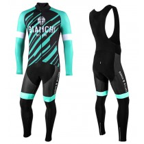 2021 Bianchi Milano Bianzone vert Maillot Cyclisme manches longues et Collant