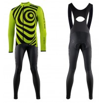2021 Nalini Coffee Jaune Maillot Cyclisme manches longues et Collant