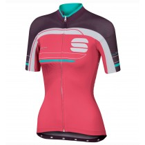 2016 Sportful Gruppetto Rose femmes Maillot Cyclisme manches courtes