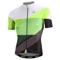 2017 Nalini PRO Campione blanc-vert Maillot Cyclisme manches courtes