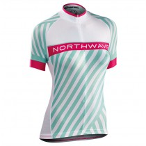 2017 Northwave Logo 3 femmes vert Maillot Cyclisme manches courtes