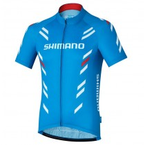 2017 Shimano Performance Impression Bleu Maillot Cyclisme manches courtes