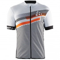 2018 Craft Reel Graphic blanc Maillot Cyclisme manches courtes