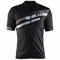 2018 Craft Reel Graphic Noir Maillot Cyclisme manches courtes