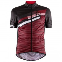 2018 Craft Reel Graphic rouge Maillot Cyclisme manches courtes