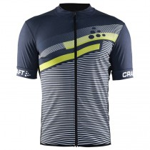 2018 Craft Reel Graphic vert-Gris Maillot Cyclisme manches courtes