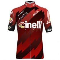 2018 Cinelli rouge Maillot Cyclisme manches courtes