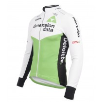 2018 Dimension Data blanc Maillot manches longues