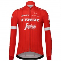 2018 Trek Segafredo rouge Maillot manches longues