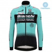 2018 Équipe Bianchi Countervail Maillot thermique manches loungues