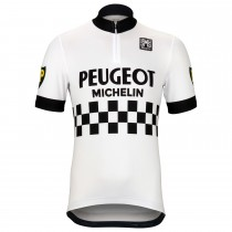 Peugeot Michelin blanc Maillot Cyclisme manches courtes