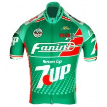 Retro Fanini 7 UP vert Maillot Cyclisme manches courtes