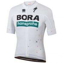 2019 Bora Hansgrohe Germany Fan blanc Maillot Cyclisme manches courtes