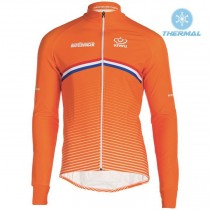 2019 Nederland Country Équipe Maillot thermique manches loungues