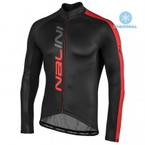 2020 Nalini LW Noir-rouge Maillot thermique manches loungues