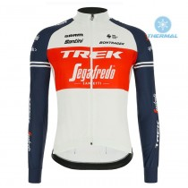 2020 Trek Segafredo Usine Racing blanc-rouge Maillot thermique manches loungues