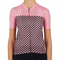 2021 Sportful Checkmate Rose femmes Maillot Cyclisme manches courtes