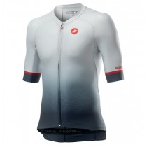 2021 Casteli JBH Shade Gris Maillot Cyclisme manches courtes